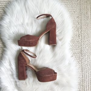 Shellys London | Suede Peep Toe Heel